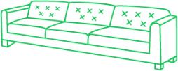 Кожаный диван 3 посадочных места