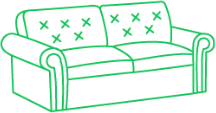 Химчистка дивана их кожи в 2-а посадочных места