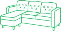 Химчистка углового дивана из кожи