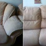 Химчистка мягкого светлого дивана