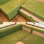 Химчистка зеленого дивана