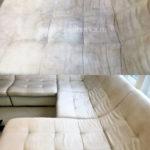 Химчистка углового белого дивана