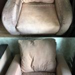 Химчистка персикового кресла