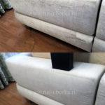 Химчистка спинки белого дивана